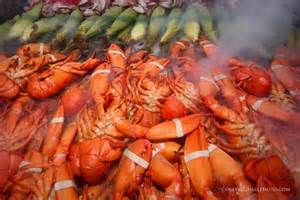 August in Maine means lobster bakes