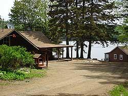 Cabin at Eagle Lake Sports Camp in summer